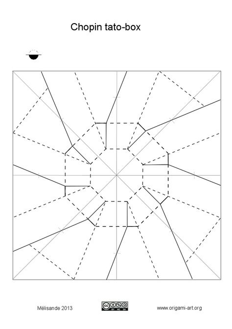 Crease Pattern For The Origami Bowl By Rachel Young This Is Really