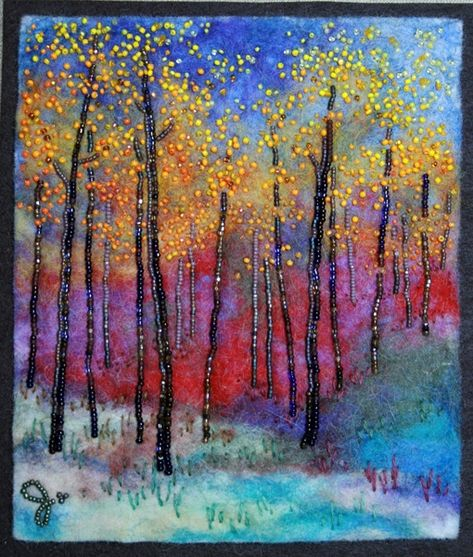 Large photo of Autumn Bright beaded art by Jo wood beads