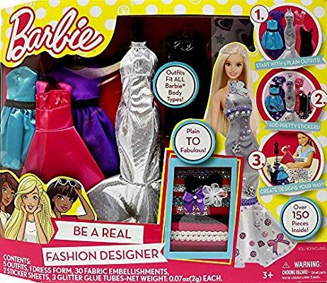 Amazon Com Barbie Be A Fashion Designer Doll Dress Up Kit Toys Games In 2020 Barbie Barbie Fashion Designer Craft Kits For Kids