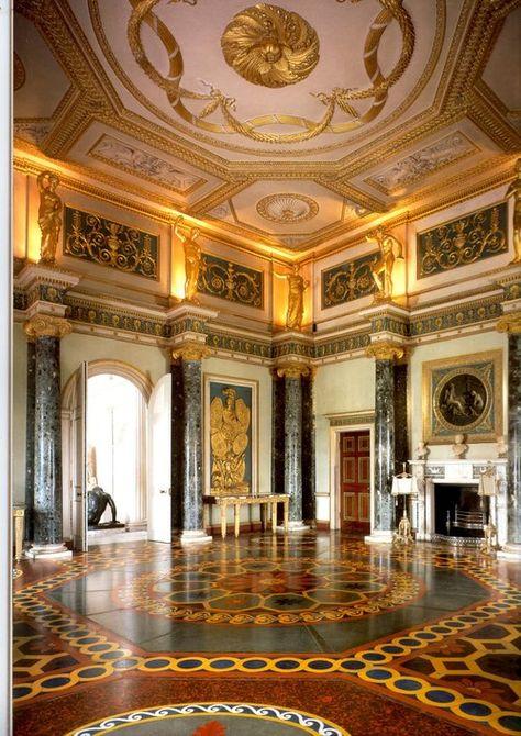 Anteroom, Syon House, London (Brentford, Hounslow), by Robert Adam, 1762-1769.
