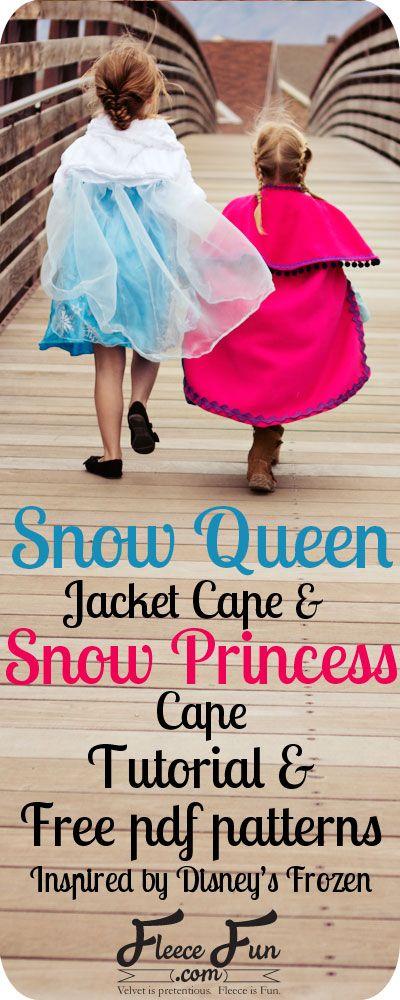 New Free Pattern: Elsa Frozen Cape DIY by www.fleecefun.com