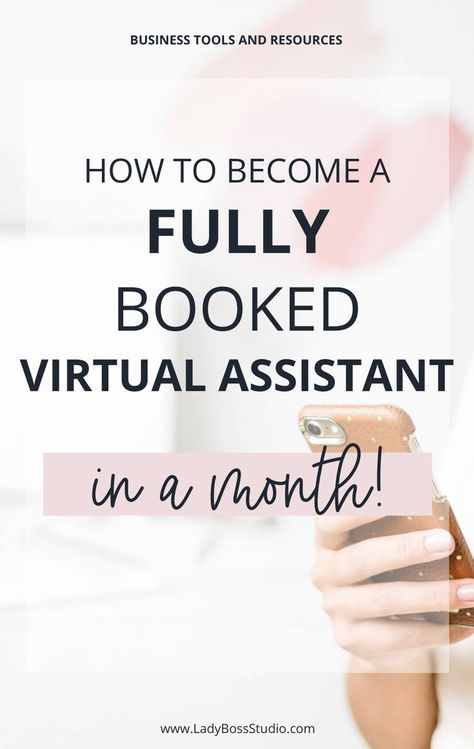 How to become a fully booked virtual assistant in a month!