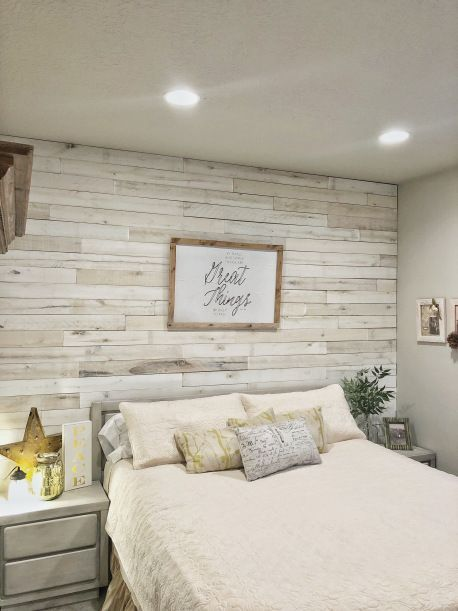 Diy Wood Wall With Weaber Lumber Master Bedroom Idea Feature Wall