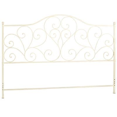 For Those Who Heart Vintage Style Headboards Our Wrought Iron Design Is Accented With Heart Shaped Scrolls Gr White Headboard Headboard White Metal Headboard