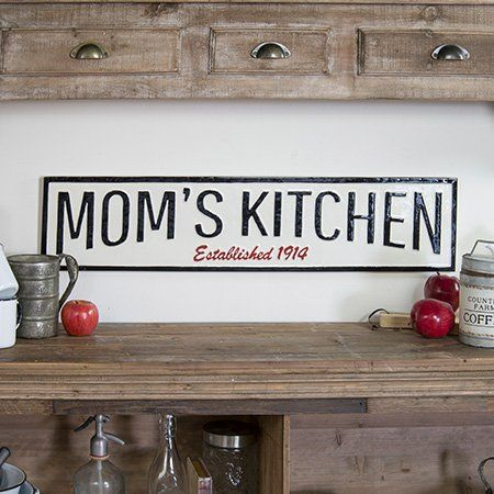 Mom S Kitchen Classic Farmhouse Embossed Sign Kitchen Wall Decor Kitchen Signs Kitchen Wall Art