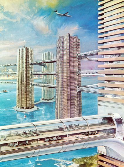 Sea Skyscrapers From Gunter Radtke On Retro Futurismus De With