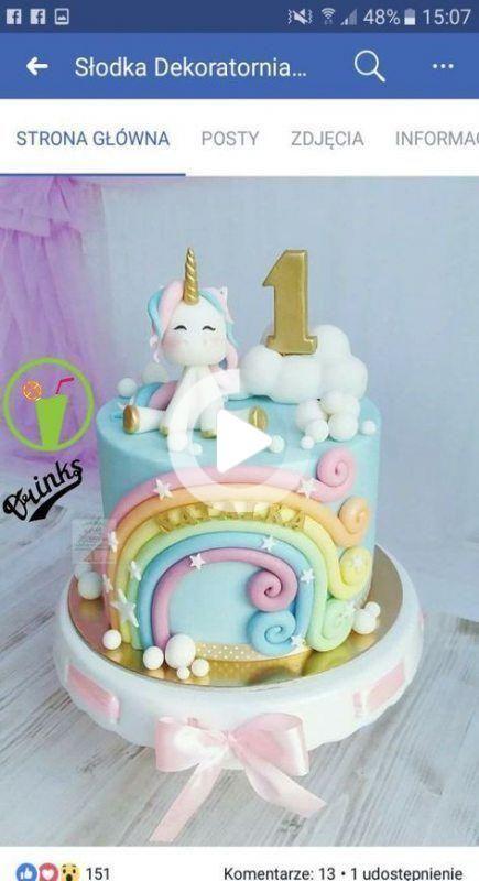 Neues Geburtstagskuchen Einhorn Scherzt Ideen In 2020 Unicorn Birthday Cake New Birthday Cake Baby Birthday Cakes