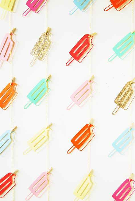 a popsicle party backdrop
