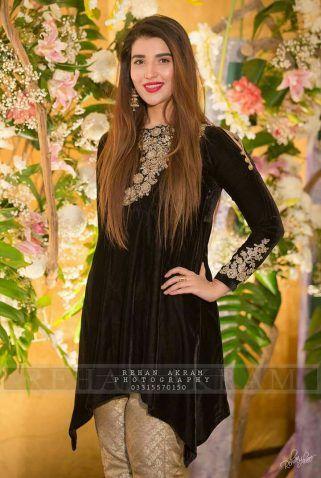 Winter Velvet Dresses Designs Latest Trends Collection 2019