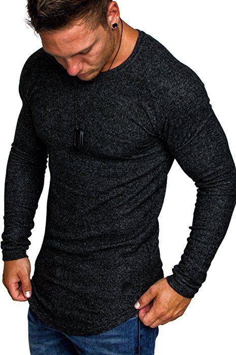 LEIF NELSON Herren oversize Sweatshirt Hoodie Hoody LN6323