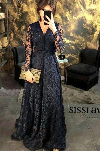 قفطان 2019 تشكيلة متنوعة من القفاطين باللون الأسود الملكي Mon Projet Couture Moroccan Dress Moroccan Caftan Dresses