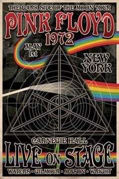 Pink Floyd 1972 Carnegie Hall Poster .