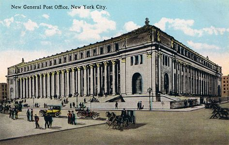 Sept 7 1914 New York Post Office Building Opened It Was Renamed For Former Postmaster General James Farley In General Post Office New York City Post Office