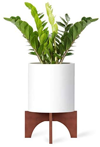 Mkono Plant Stand Wood Mid Century Flower Pot Holder Home Https Www Amazon Com Dp B07ckmp5rb Ref Flower Pot Holder Flower Pots Outdoor Plant Stand Indoor