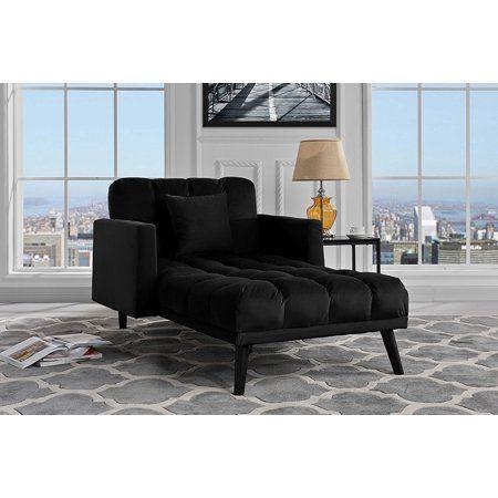 Modern Velvet Recliner Sleeper Chaise Lounge Black Walmart Com Mid Century Modern Chaise Lounge Grey Chaise Lounge Modern Chaise Lounge