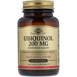 Solgar Ubiquinol Reduziertes Coq10 200 Mg 30 Weichkapseln Iherb Ubiquinol Dietary Dietary Supplements