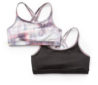 0dd7400dfc Athleta Girl Reversible Upbeat Bra 2.0   Reflection Floral