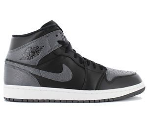 air jordan 1 mid blanco y gris chico