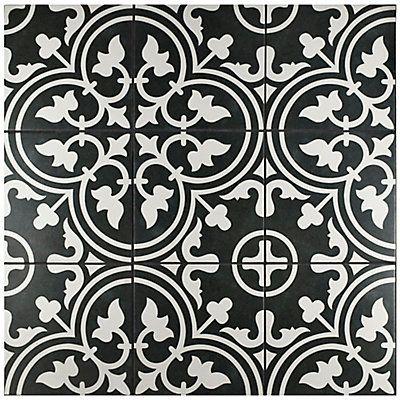 Merola Tile Arte Black 9 3 4 Inch X