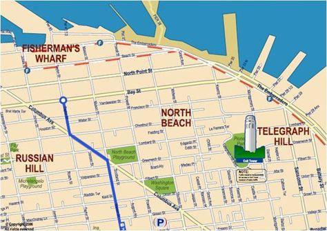 North Beach San Francisco Map Bay Area