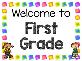 First Grade Welcome Signs - Free | First grade, Teaching teachers, Welcome  sign