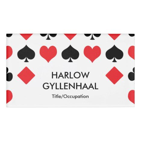 Card Suits Casino Name Tag Zazzle Com Name Tags Cards Names