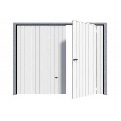 Porte De Garage Basculante Avila Blanche L 240 X H 200 Cm Pre Montee Castorama En 2020 Porte Garage Porte De Garage Basculante Castorama
