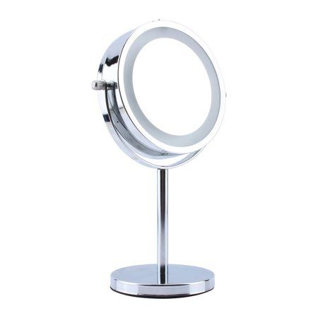 Estink Round Cosmetic Led Light Makeup Mirror 5x Magnifying