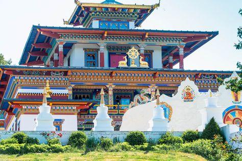 boeddhistische tempel in la Boulaye France