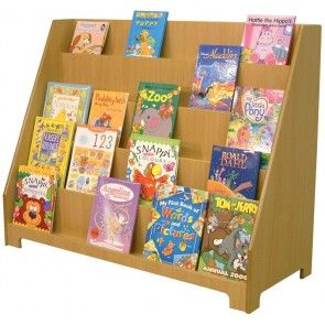 Face Sloping Bookcase Generous Storage In A Strong Sturdy Unit
