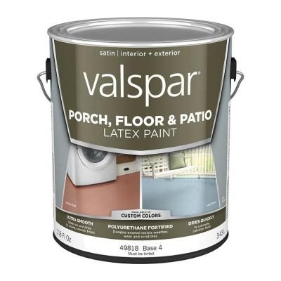 How I Painted Stained My Concrete Floor To Look Like Wood Decorate More With Tip In 2020 Painted Floors Valspar Patio Flooring