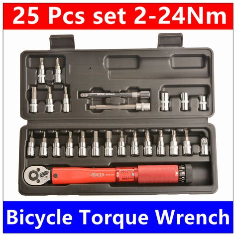 Mxita Top Quality 1 4 Dr 2 24nm 20 Pcs Torque Wrench Bicycle Font