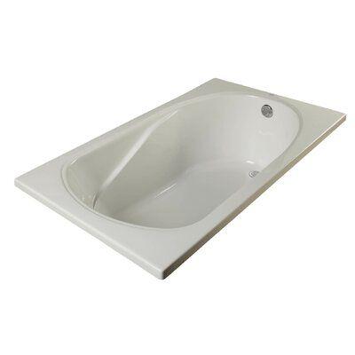 Clarke Products Sculptura 60 X 36 Drop In Soaking Bathtub In
