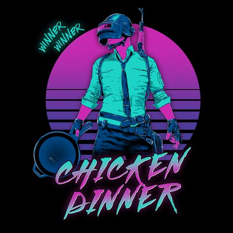Video Game Pixel T-Shirts & Retro Gaming Tees! Shop Our Large Collection! Types: Men's T-Shirts, Women's Tees, Kid's Tees, Hoodies, Retro, 80s, Retro Wave, PUBG, BR, Battle Royale, Shooter, FPS, Winner Chicken Dinner, Frying Pan, PC, Xbox, PS4, PlayersUnkown Battlegrounds, Last Man Standing, PVP, Multiplayer, Gun