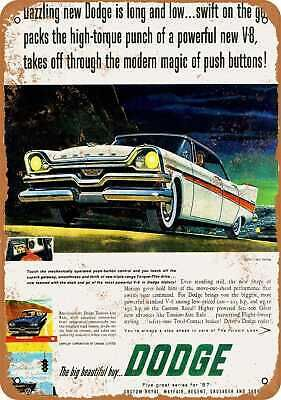 Vintage Look Reproduction Metal Sign 1957 De Soto Automobiles