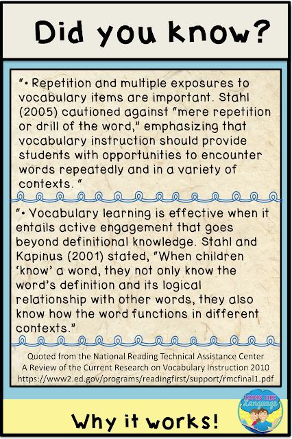 5 Surprising Skills That Help With Vocabulary Collaborative Teaching Vocabulary Instruction Speech Language Activities