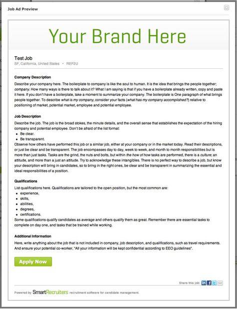 How to write job ads that work SmartRecruiters Blog Pinterest - dishwasher job description