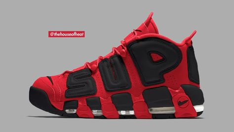 "Nike Air More Uptempo x Supreme ""Bred"