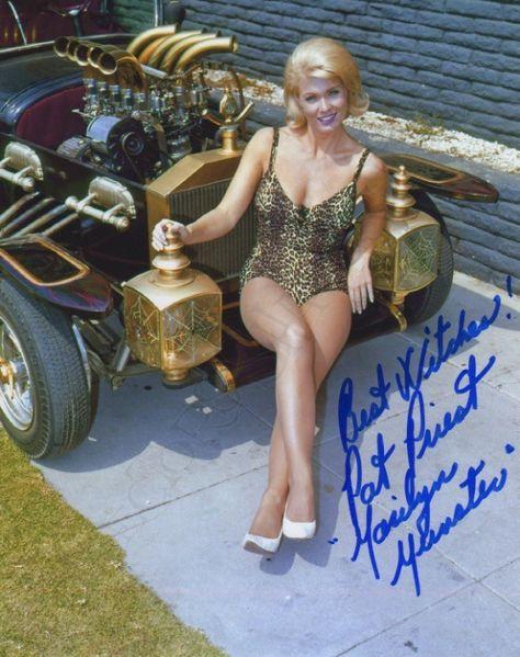 Beautiful Marilyn Munster Pat Priest SUPER HOT BUSTY Custom Car PHOTO! #(8) | eBay