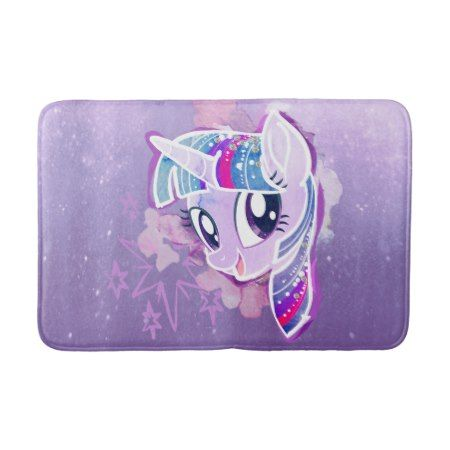 My Little Pony Twilight Sparkle Watercolor Bath Mat Zazzle Com