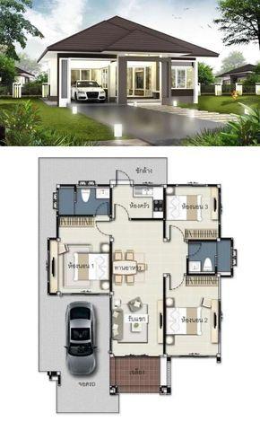 3 Concepts Of 3 Bedroom Bungalow House Denah Rumah Rumah Indah Denah Desain Rumah