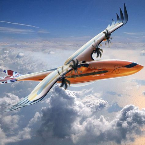 """Airbus Unveils """"Bird of Prey"""" Hybrid Plane Concept - COOL HUNTING"""
