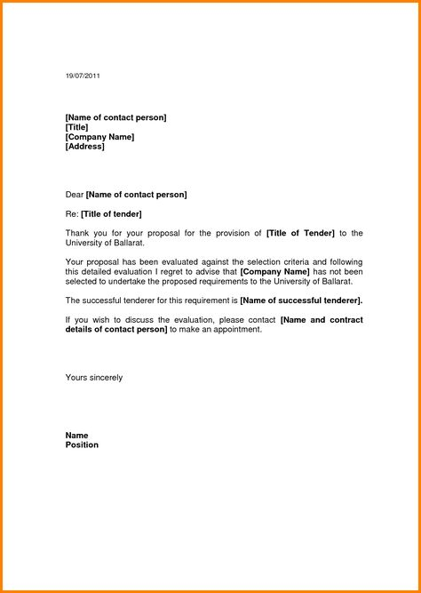 example tender letters quote templates business letter Home - tender document template