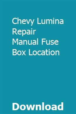 Chevy Lumina Fuse Box Location | schematic and wiring diagram