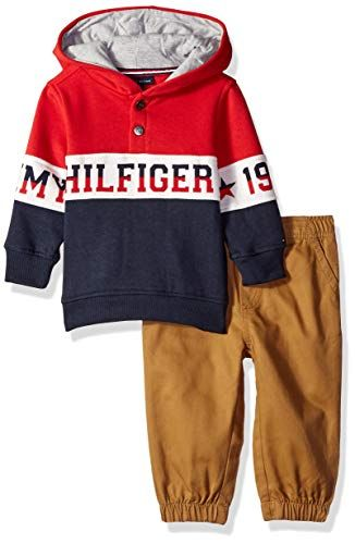Tommy Hilfiger Boys Toddler 2 Pieces Pullover Pants Set