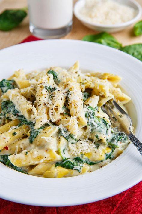 Spinach and Artichoke Dip Pasta