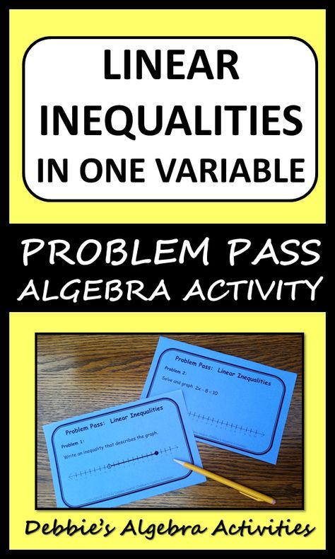 Linear Inequalities In One Variable Problem Pass Digital Distance Learning Linear Inequalities Solving Inequalities Activities Graphing Linear Inequalities