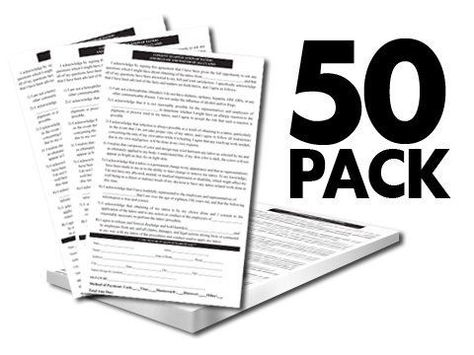50 Pack Tattoo Consent Forms By Superior Tattoo Equipment. $6.95