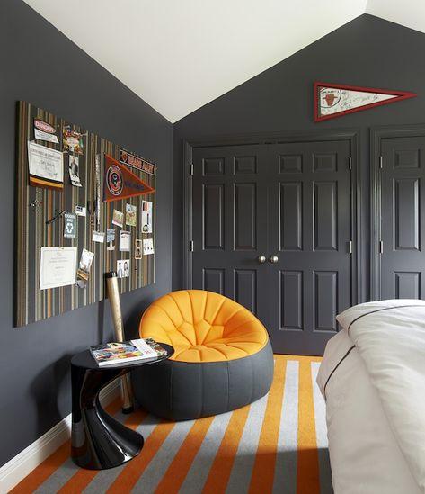 Orange And Gray Room Contemporary Boy S Room Suzanne Lovell Boys Bedroom Orange Orange Boys Rooms Boys Bedroom Grey Kids room design orange gray