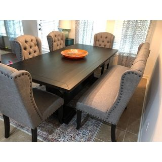 Overstock Com Online Shopping Bedding Furniture Electronics Jewelry Clothing More Dining Table Black Farmhouse Dining Room Dining Room Seating